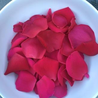 rose petals ready