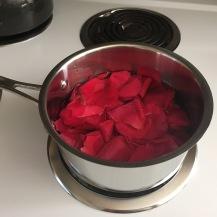 rose petals steeping